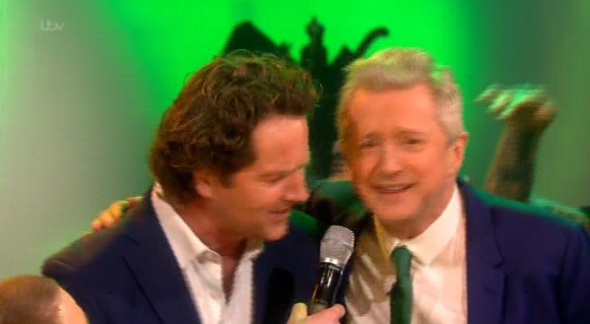 Diarmuid and Louis sing along (Picture: ITV)