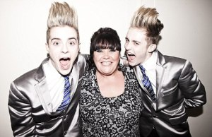 JEDWARD WITH MARY BYRNE  - X FACTOR CONTESTANT 2010. Photo : DailyMail